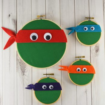 Embroidery Hoop Ninja Turtles