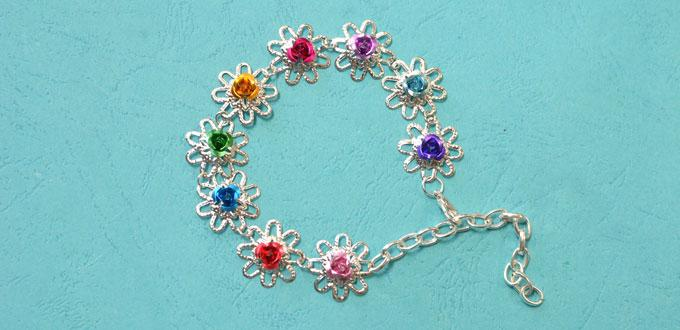 How to Make Simple Handmade Flower Bracelet for Girls