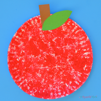Sponge Painted Paper Plate Apple