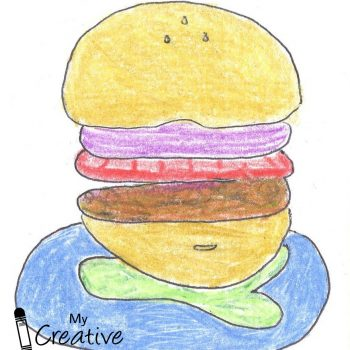Hamburger Name Art