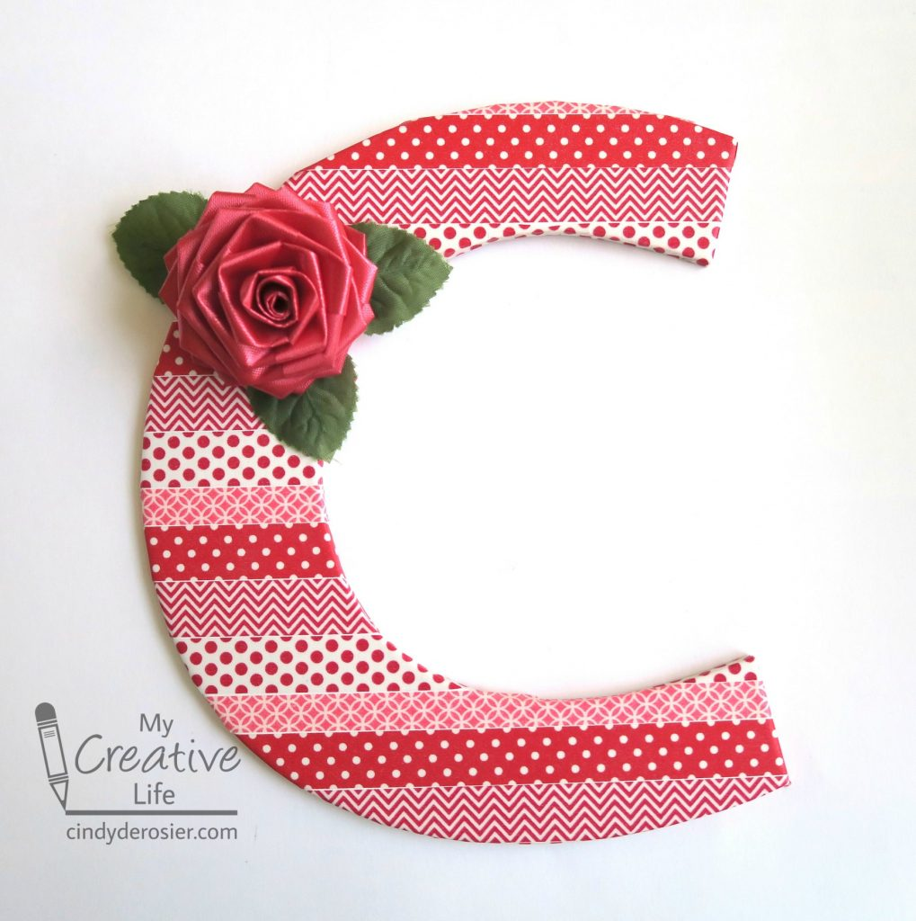 Personalize a monogram using washi tape!