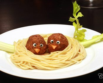 Spaghetti and Meatball Nest