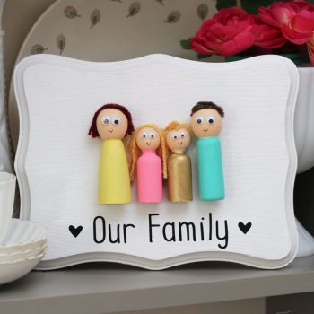 Peg Doll Family Plaque