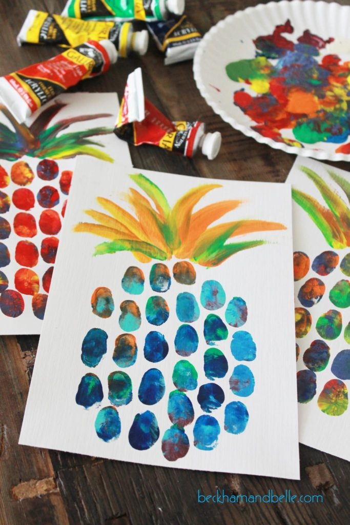 Turn your thumbprints into a pineapple!
