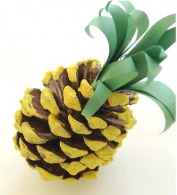 Turn a pinecone into a pineapple!