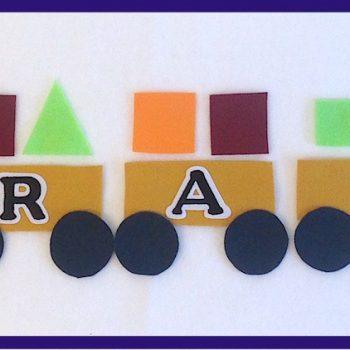 Felt Alphabet Train