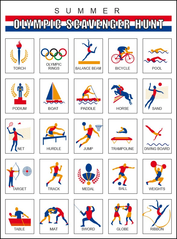 Summer Olympics Scavenger Hunt Fun Family Crafts