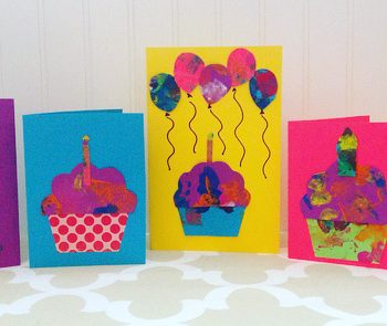 Making Cards From Toddler Art