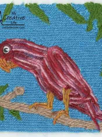 Parrot Yarn Painting