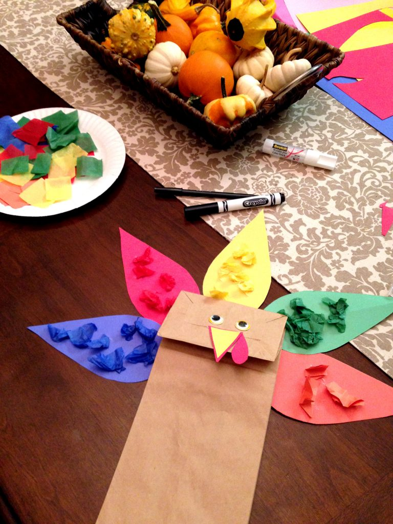 Paper Bag Turkey Craft - Great for Color Matching