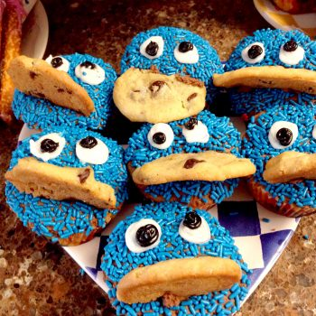 Easy Elmo and Cookie Monster Cupcakes
