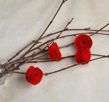 Easy Red Felt Roses