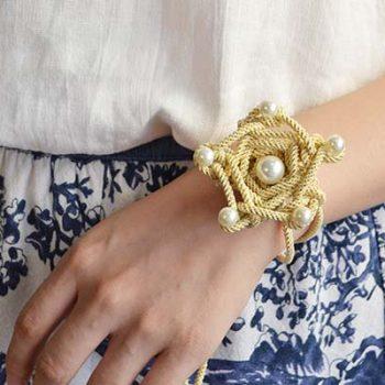 Cord Star Flower Bracelet