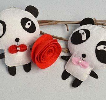 Felt Panda Ornaments