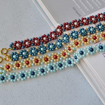 Beaded Flower Bracelets