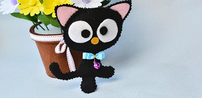Easy Felt Craft- How to Make Cute Felt Cat for Kids