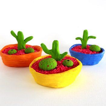 Clay Cactus Garden