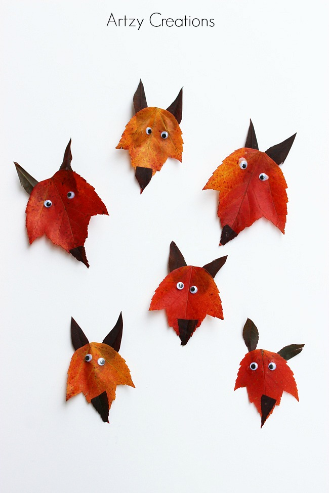 Turn fall leaves into adorable foxes!