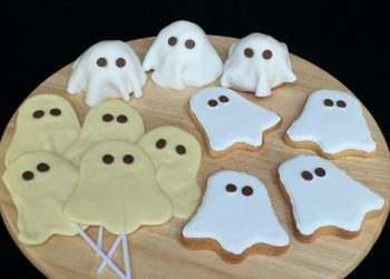 Ghost biscuits, cakes and lollies