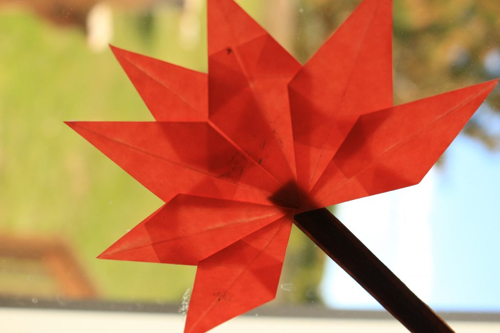 A great fall paper craft for kids! Window leaf made from kite paper - so easy you can fill a window in no time!