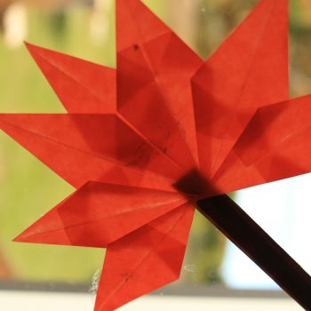 Origami Fall Window Leaf