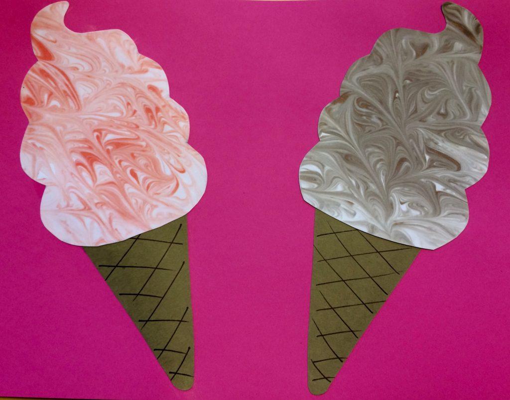 Ice Cream Cone Printmaking Project