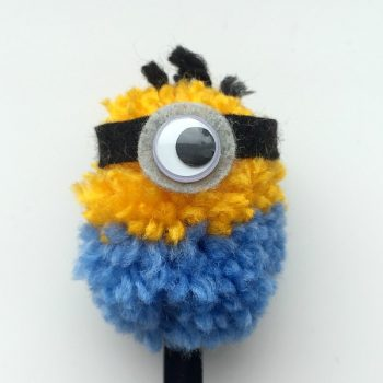 Minion Pencil Top and Keychain