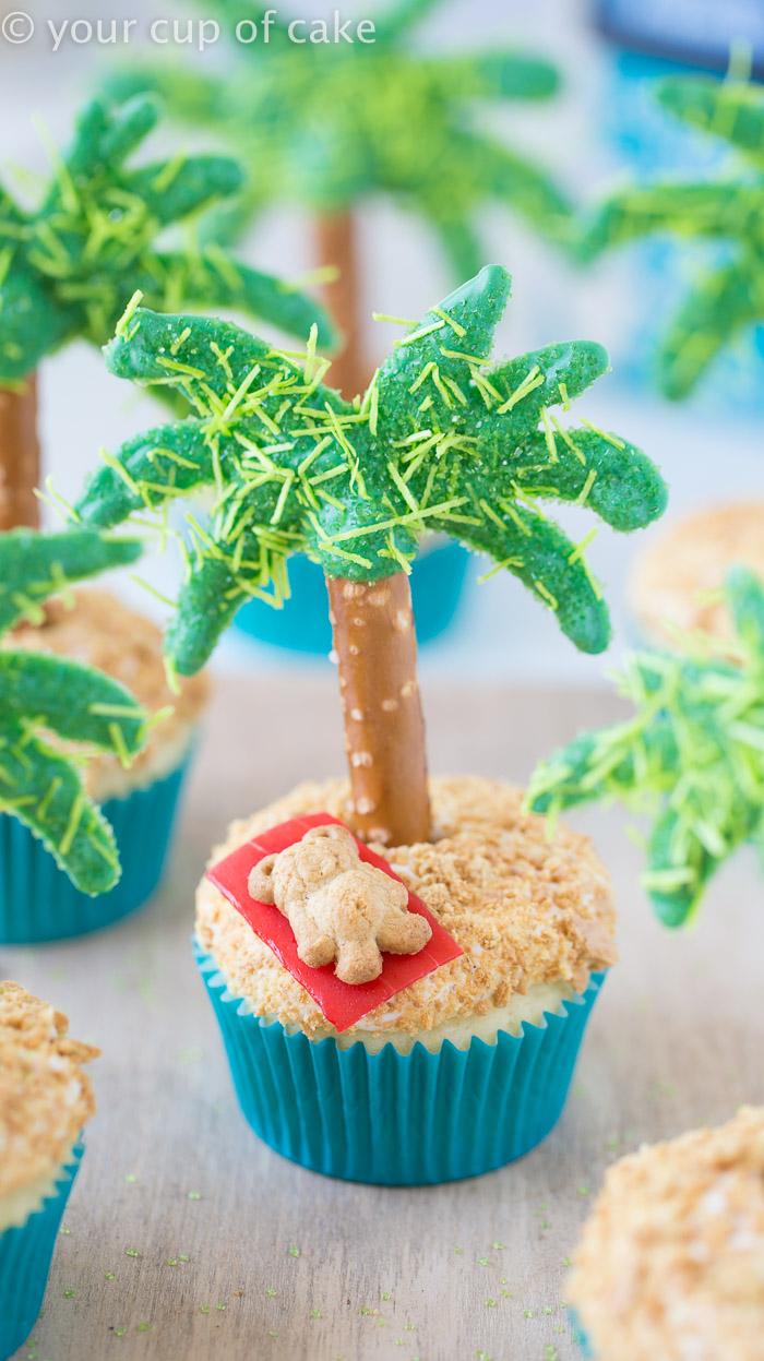 Palm Tree Cupcake Fun Family Crafts