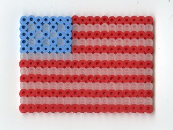 Create a perler bead version of your state or national flag.