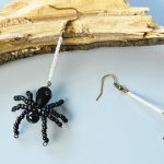 Beaded Spider Earrings for Halloween