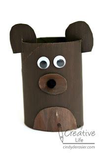 Cardboard Tube Bear or Dog