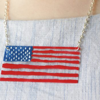 Painted Acrylic Flag Necklace
