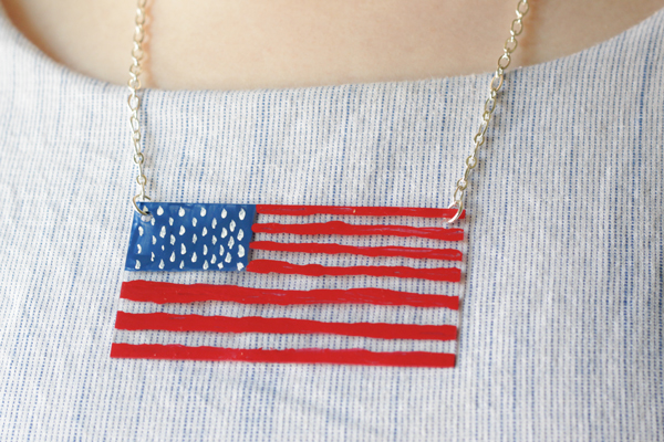 Show off your USA pride with this necklace!