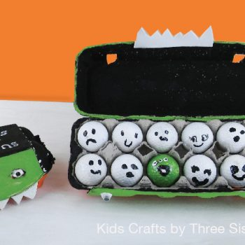 Ghosts and Goblins Halloween Egg Carton Game