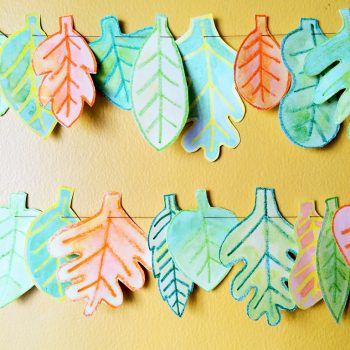 Watercolor Leaf Garland