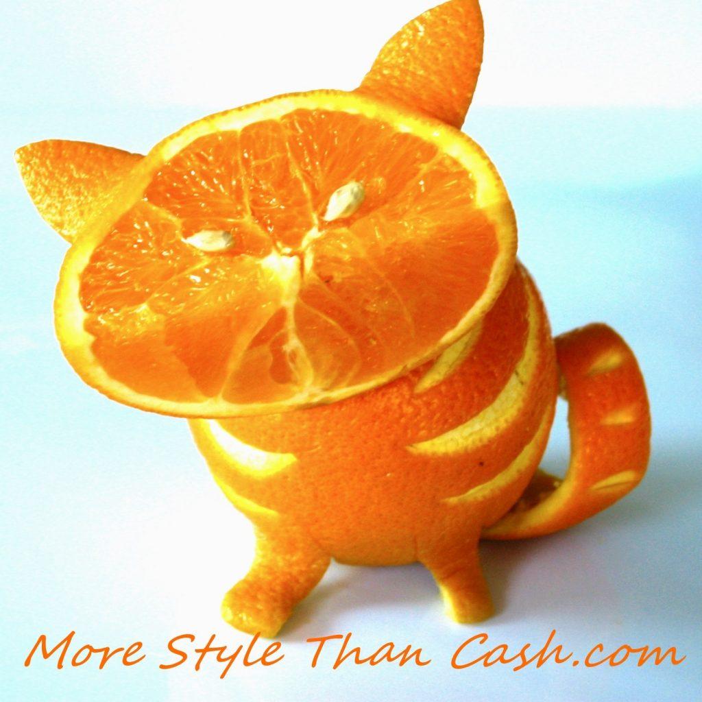 Turn an orange into a cat!