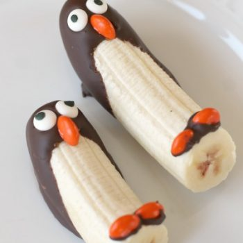 Sledding Penguins Frozen Banana Snack