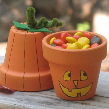 Pumpkin and Jack-O-Lantern Pots