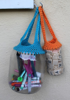 Crochet turns empty containers into something fabulous!
