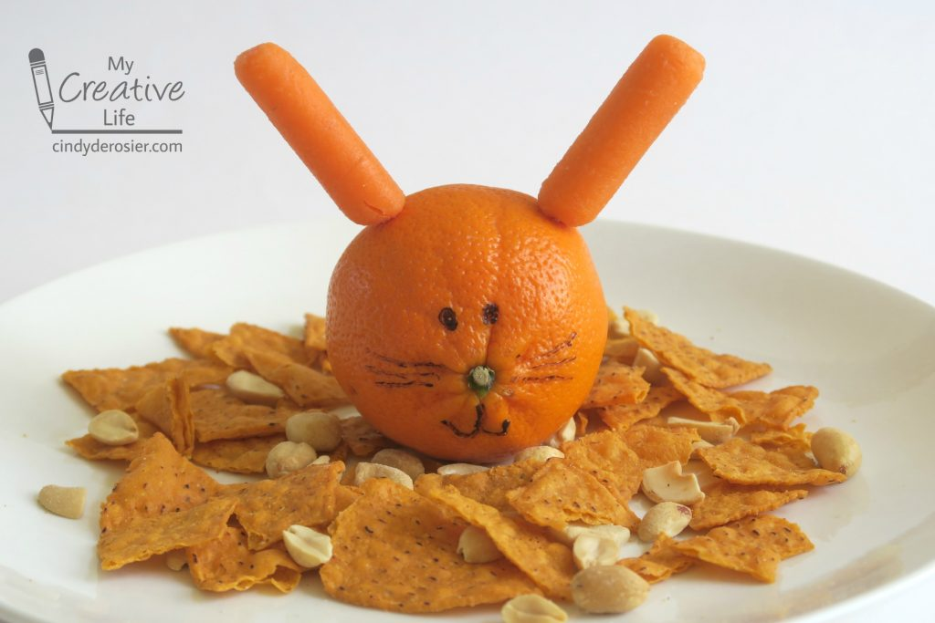 Create a healthy lunch starring a tangerine rabbit!