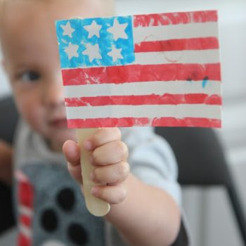 Toddler Flag Craft