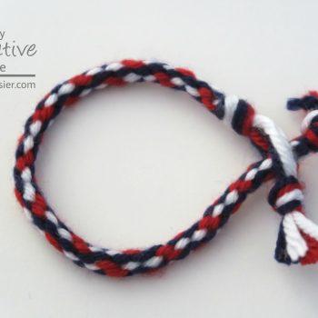 Kumihimo Yarn Bracelet
