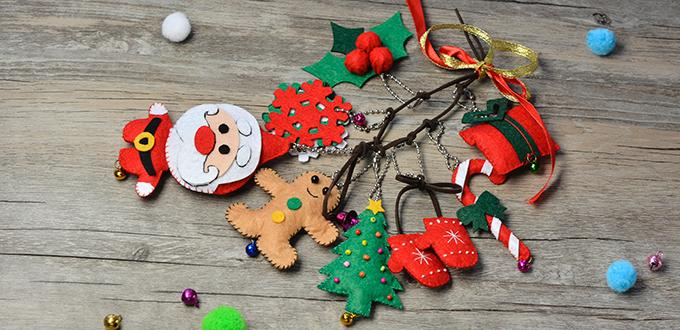 PandaHall Tutorial on How to Make Felt Hanging Decorations for Christmas