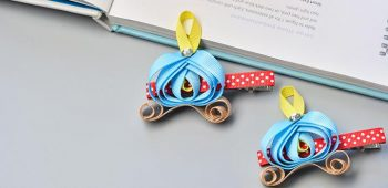 East Tutorial on How to Make Pumpkin Car Ribbon Hair clip for Kids