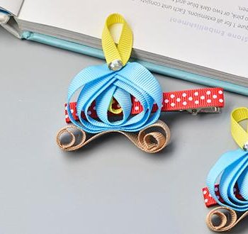 Cinderella's Carriage Ribbon Barrettes