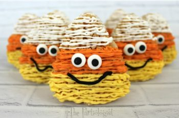 Candy Corn Rice Krispie Treats
