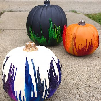 Melted Crayon Pumpkins With A Twist
