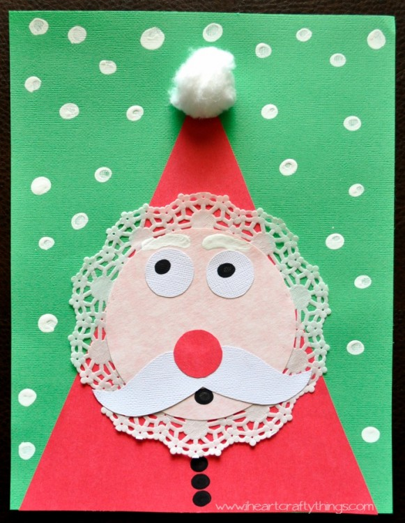 A doily makes this Santa extra cute.