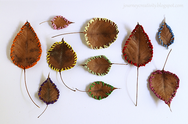 Sewing leaves