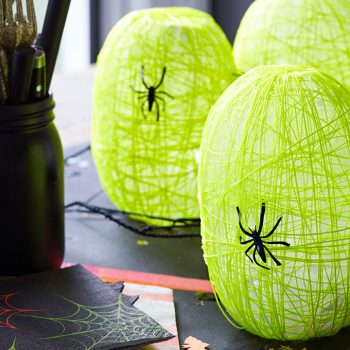 Your Halloween party is sure to be bright and spooky after testing out these Spider Nest Lanterns!